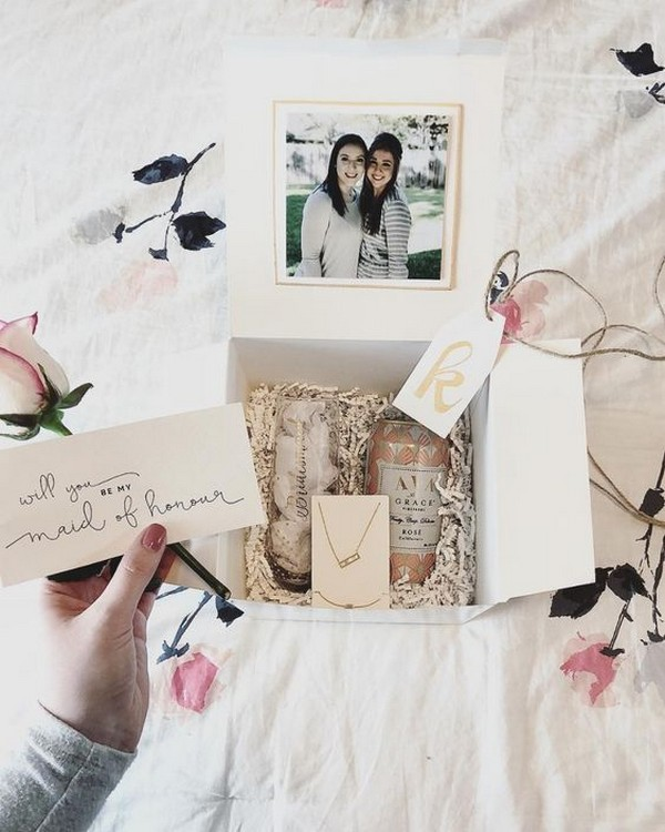 maid of honor proposal ideas with photos