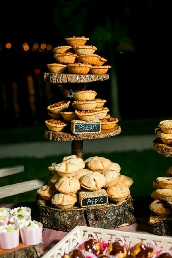 mini pies for fall wedding reception