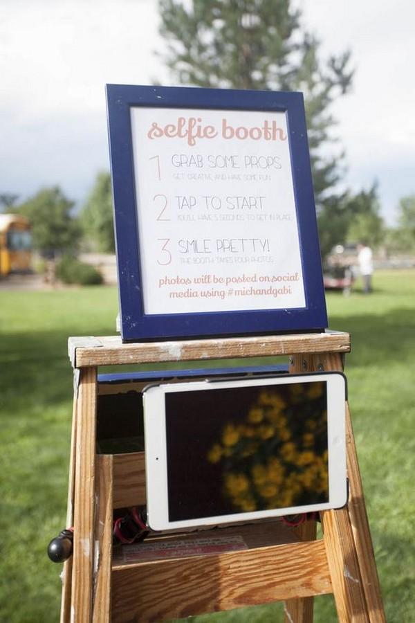 outdoor wedding DIY photo booth ideas