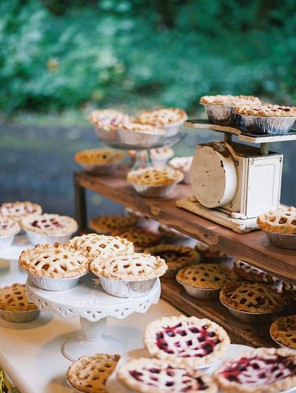 pies for fall wedding reception food ideas