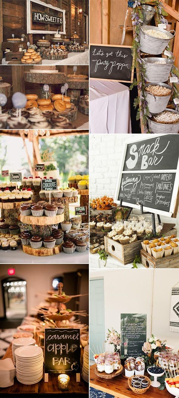 rustic fall wedding reception food ideas