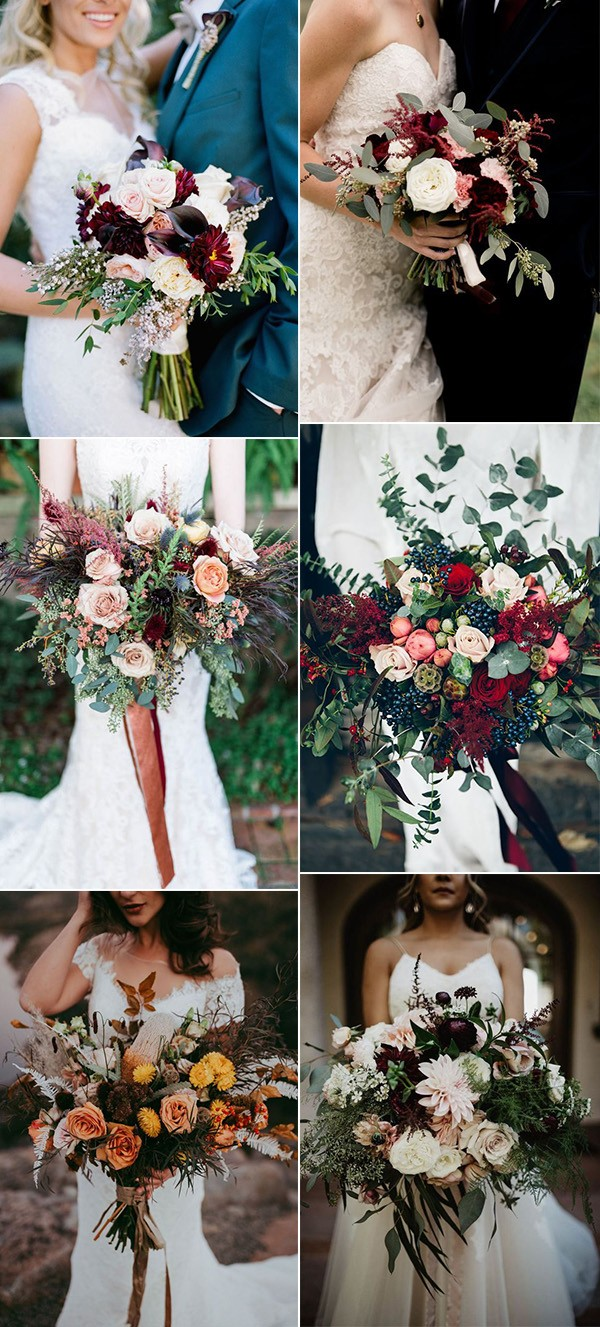 seasonal fall wedding flowers and bouquets