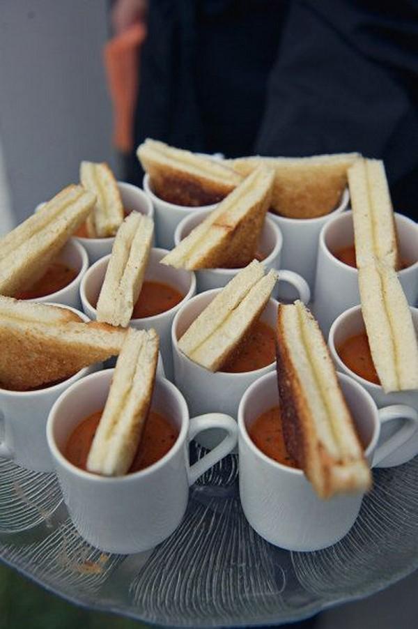 toast fall wedding reception food ideas