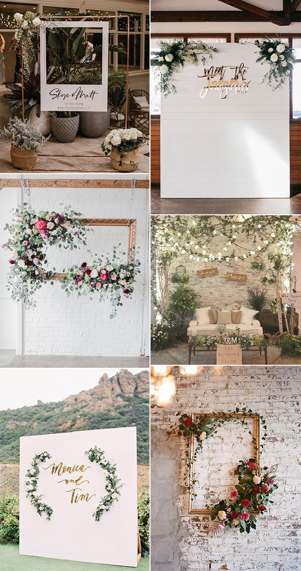 trending chic wedding photo booth ideas