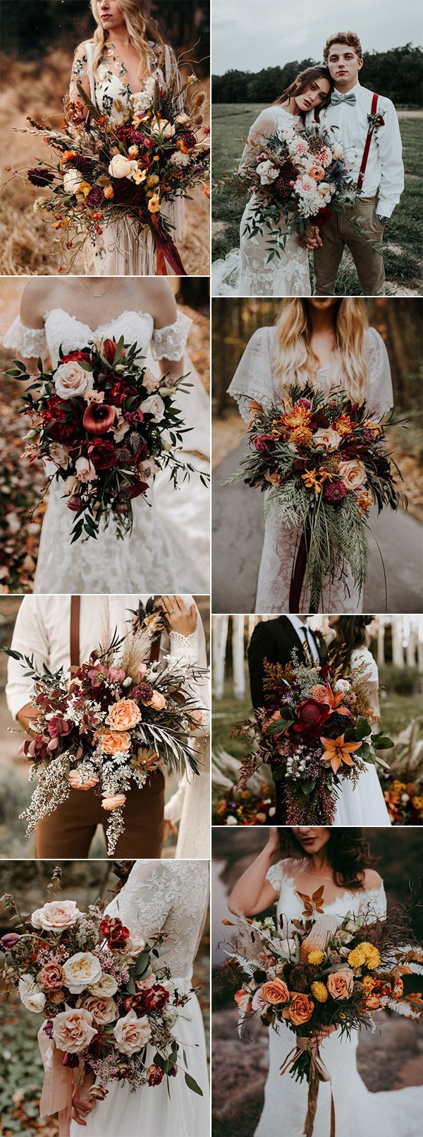 Trending Fall Wedding Flowers And Bouquets For 2019 Emmalovesweddings