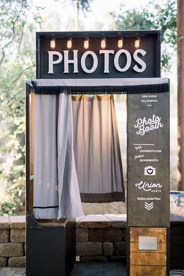vintage Kenwood wedding photo booth
