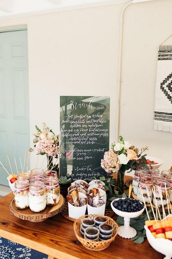 wedding food bar ideas for fall