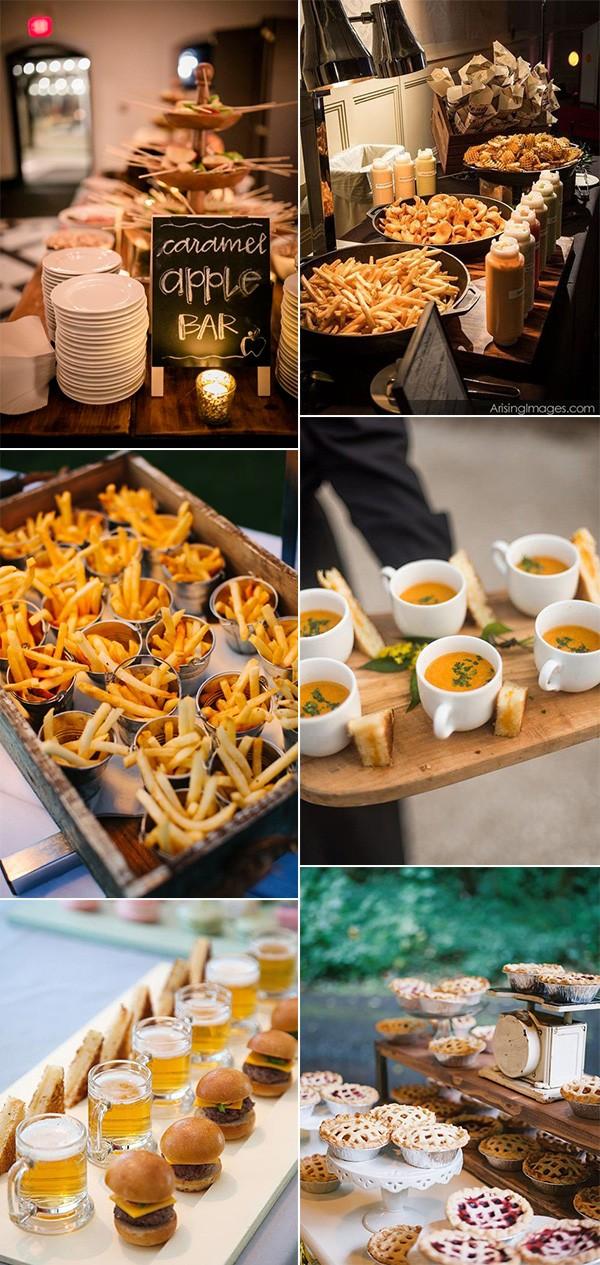 10 Fall Wedding Food Ideas Your Guests Will Love - EmmaLovesWeddings