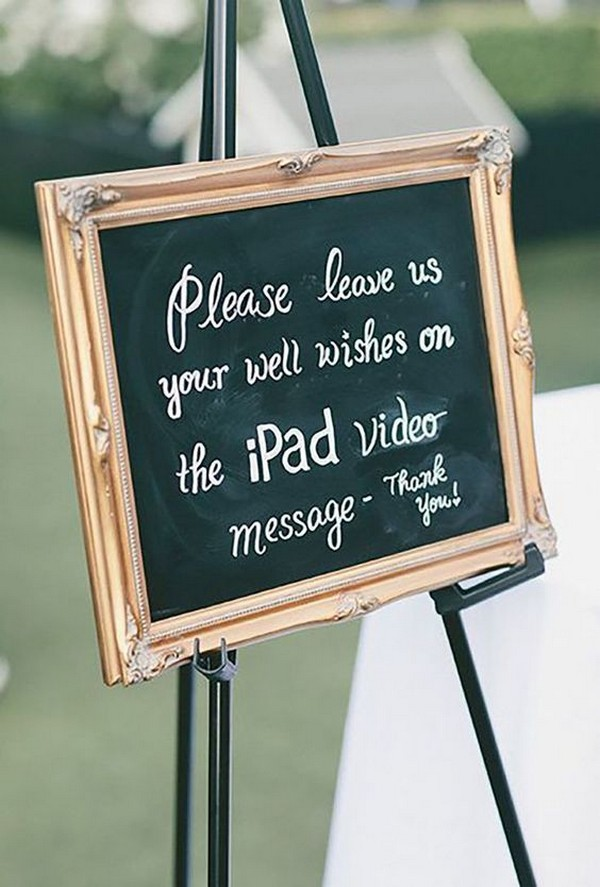wedding guest book sign in ideas with Ipad