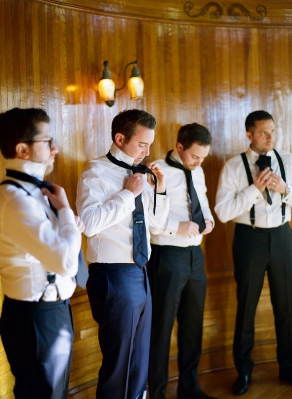 Groomsmen getting ready photo