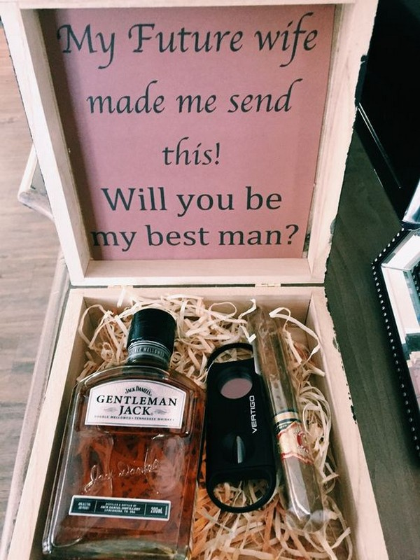 best man and groomsmen proposal gift ideas