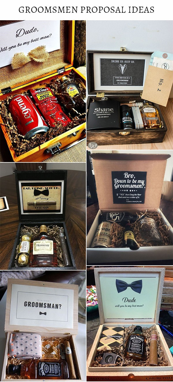 best man and groomsmen proposal gifts ideas