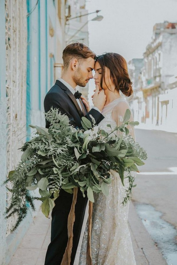 boho greenery wedding bouquet