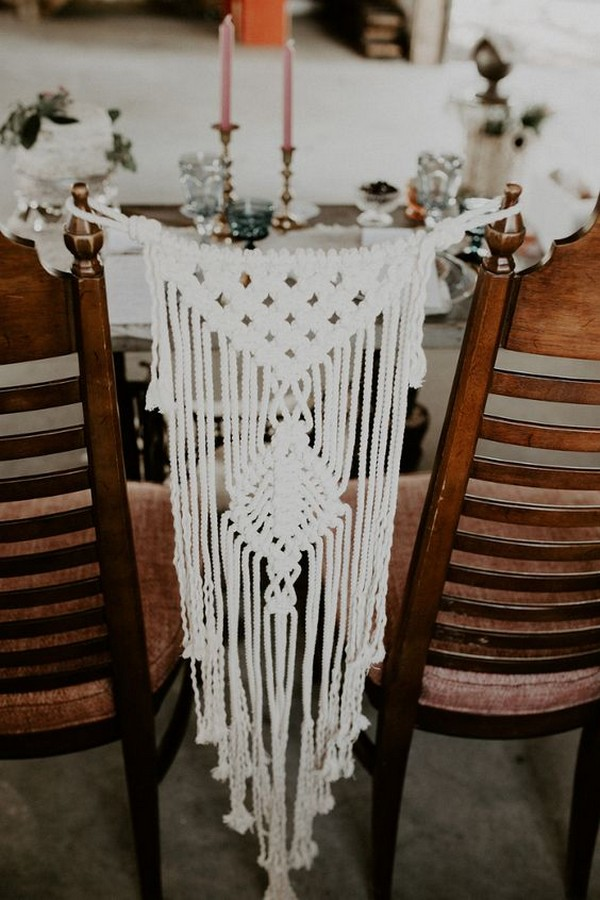 boho macrame wedding chair backs