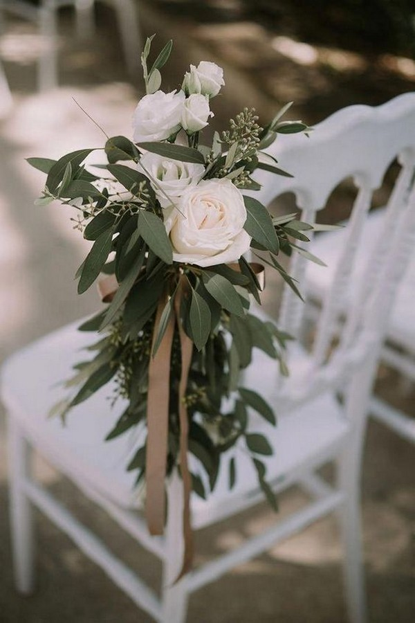 chic elegant outdoor wedding aisle decoration ideas