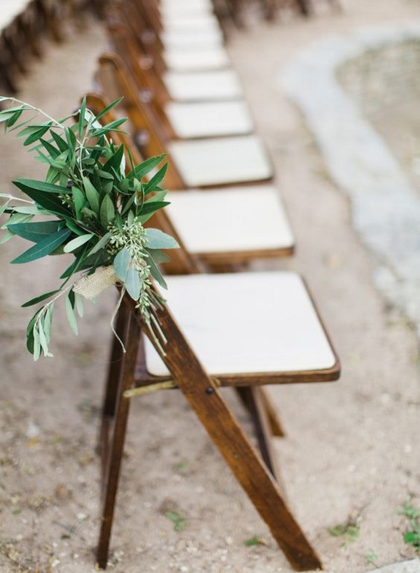 chic outdoor wedding aisle decorations with greenery and burlap