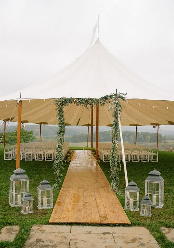 chic rustic tent wedding decoration ideas