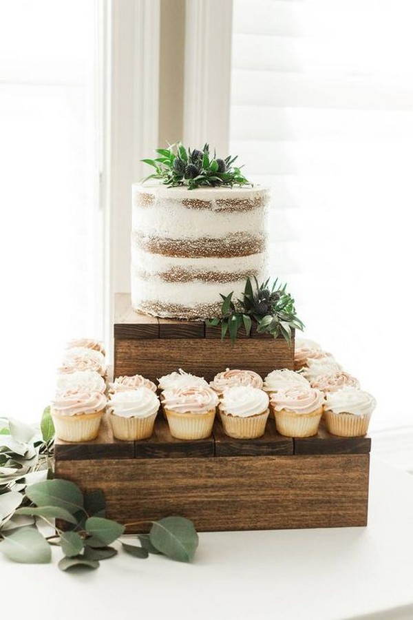 chic rustic wedding cupcakes