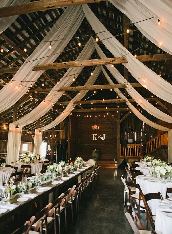 country rustic barn wedding reception