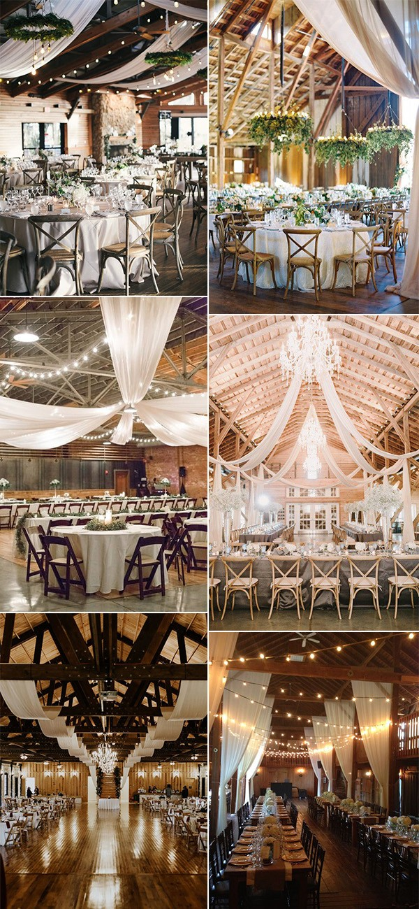 country rustic wedding draping decoration ideas for barn weddings