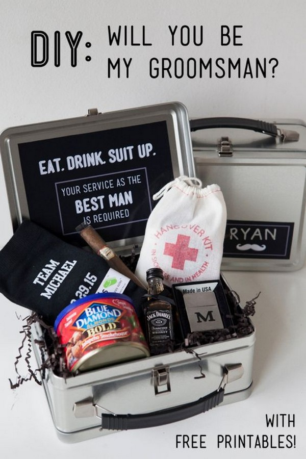diy groomsmen proposal gift box ideas