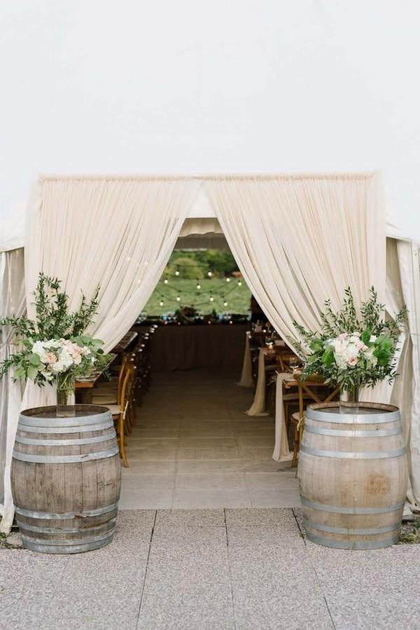 elegant tented wedding entrance decoration ideas