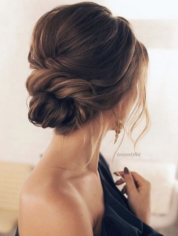 elegant updo wedding hairstyle