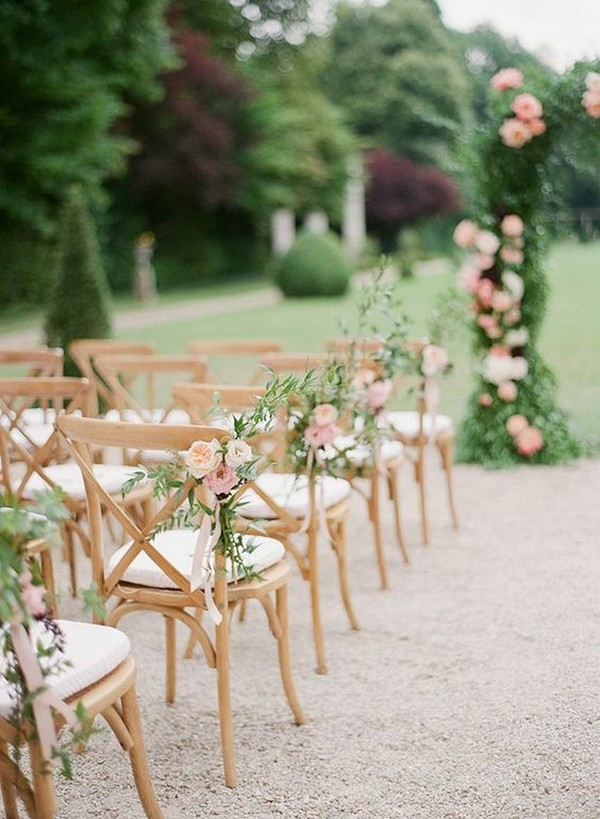 garden wedding aisle decoration ideas with floral
