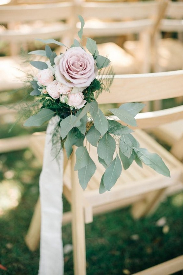 garden wedding aisle ideas with floral