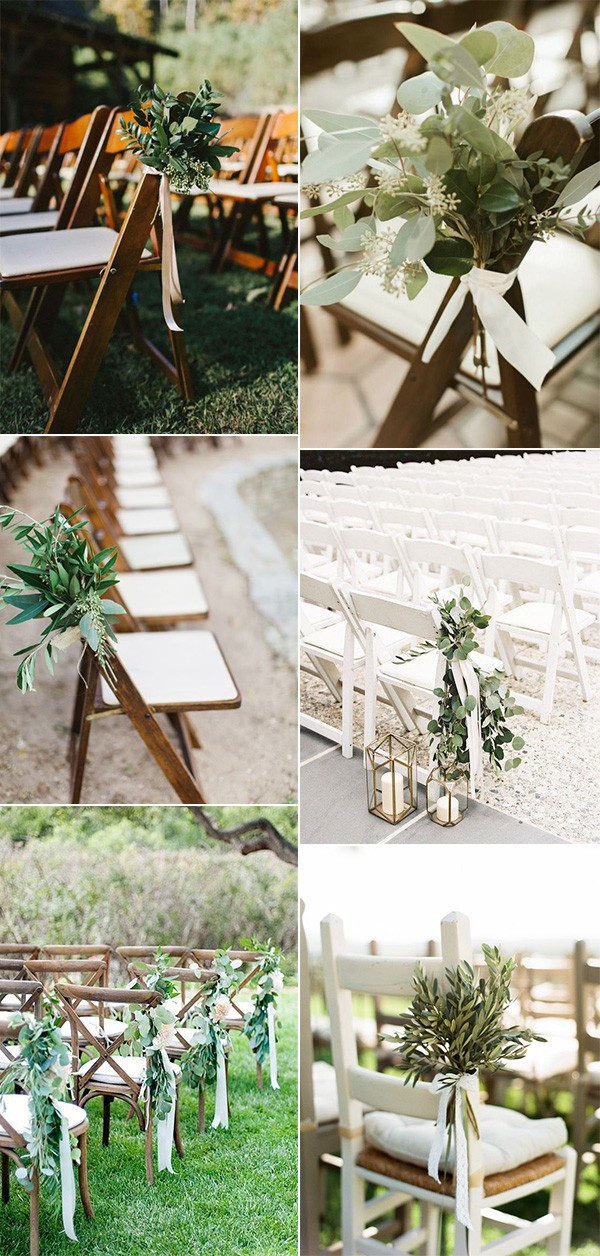 greenery outdoor wedding aisle decoration ideas