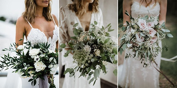 greenery wedding bouquets