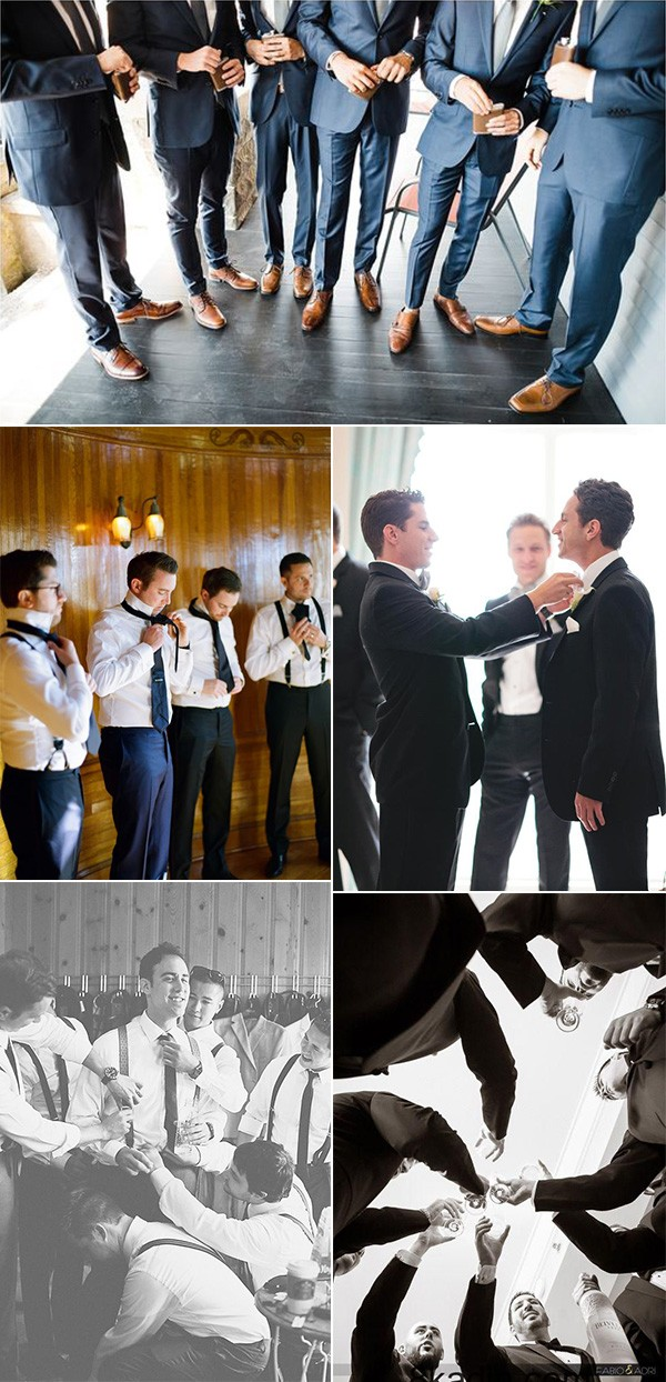 groom and groomsmen getting ready wedding photo ideas