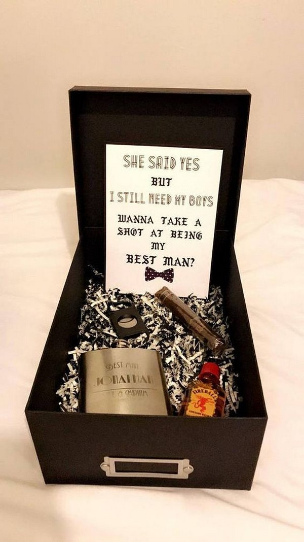 groomsmen and best man proposal gift box ideas
