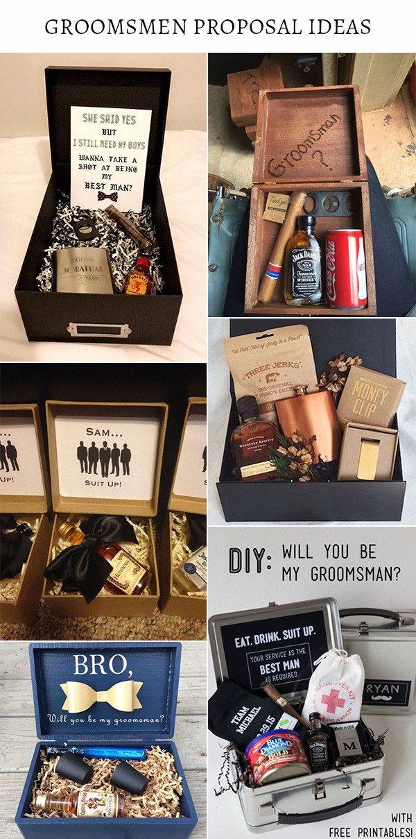 groomsmen and best man proposal gift boxes ideas