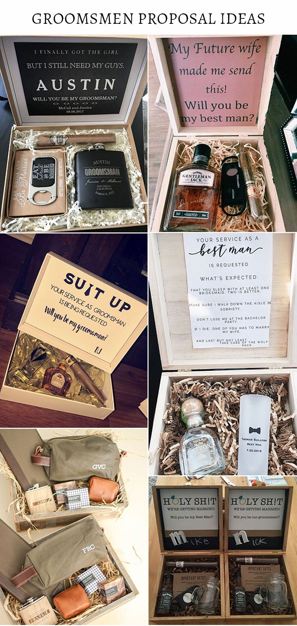 groomsmen and best man proposal gifts box ideas