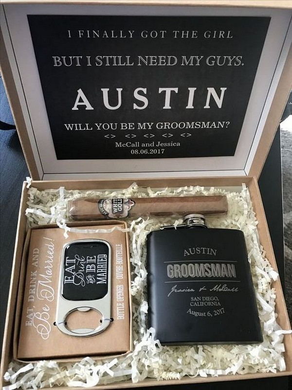 groomsmen proposal gift box ideas