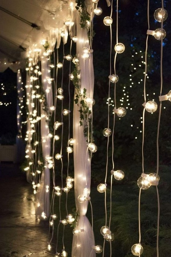hanging lights outdoor wedding decoration ideas