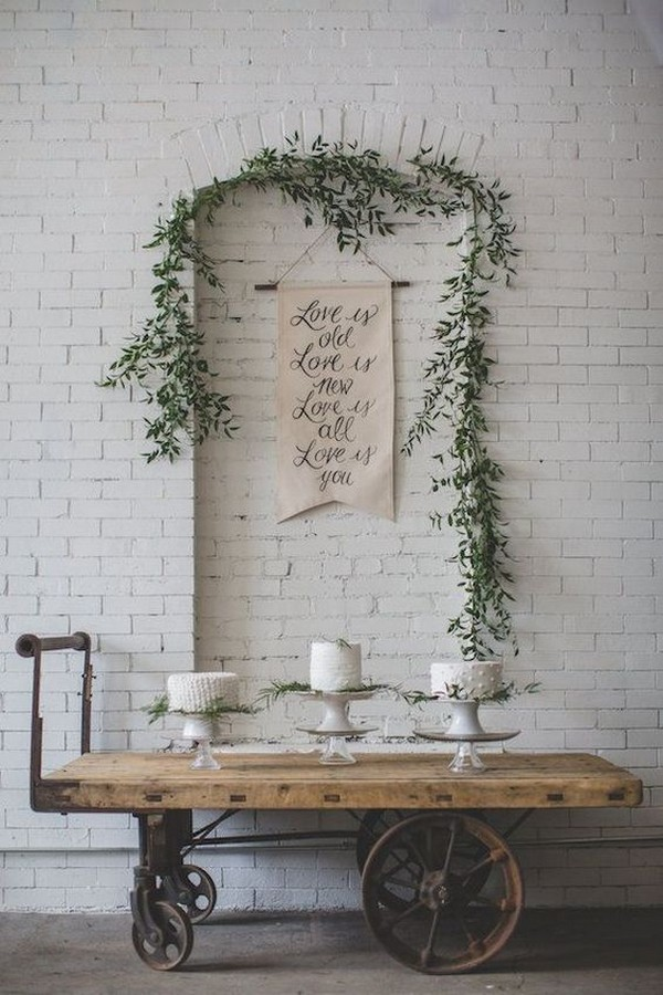 hanging wedding sign decoration ideas