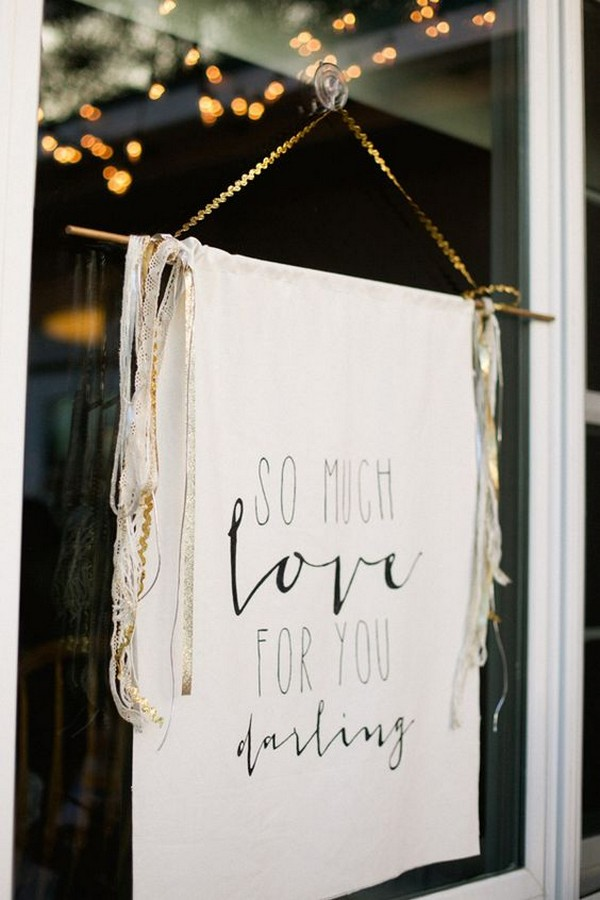 hanging wedding sign ideas
