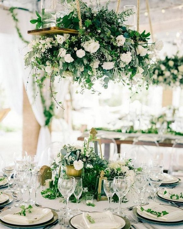 Wedding Table Flower Ideas: Trending-30 Wedding Hanging Decoration Ideas To Love