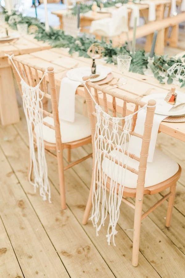 macrame wedding chair backs