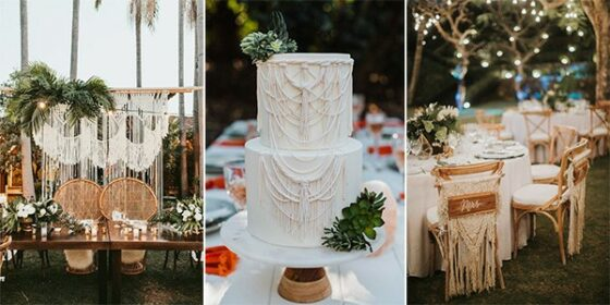 macrame wedding ideas