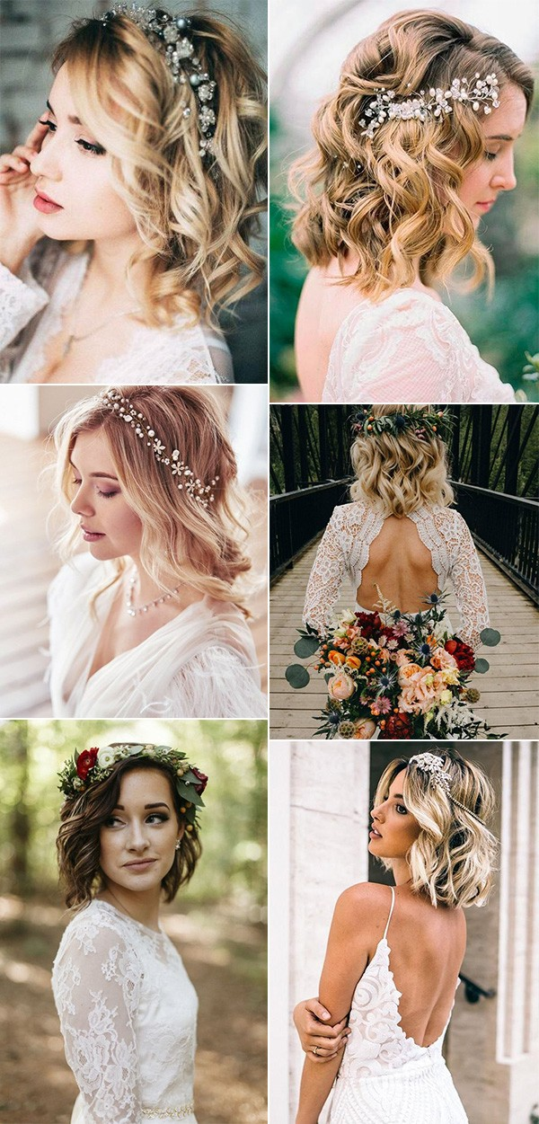 medium length wedding hairstyles with hair down