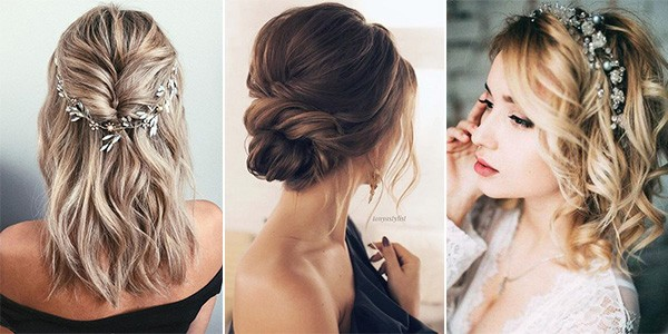 medium length wedding hairstyles