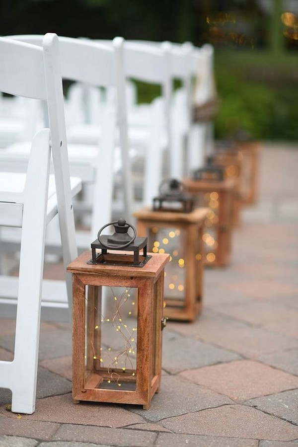non-floral budget friendly lantern wedding aisle decoration ideas