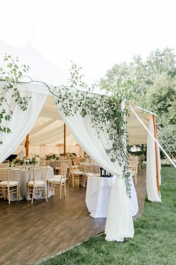 outdoor tent wedding reception entrance ideas