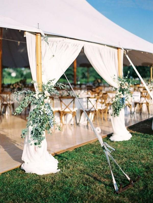 outdoor tented wedding decoration ideas
