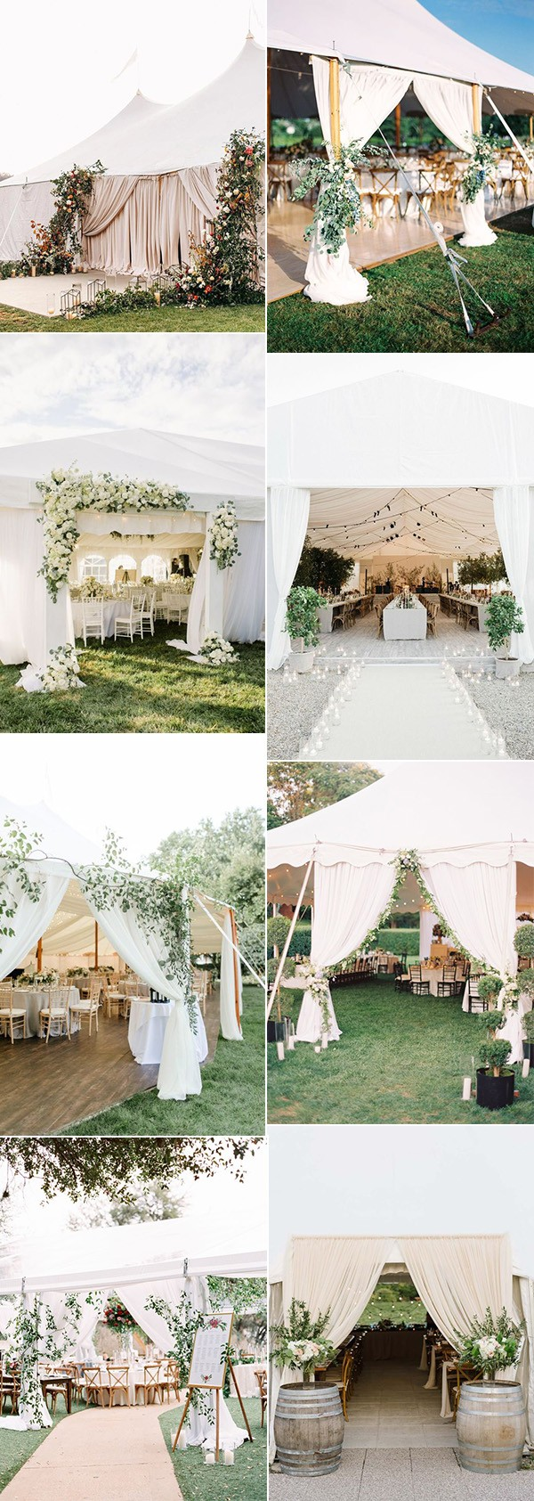 16 Gorgeous Wedding Entrance Decoration Ideas For Outdoor Tent Weddings Emmalovesweddings