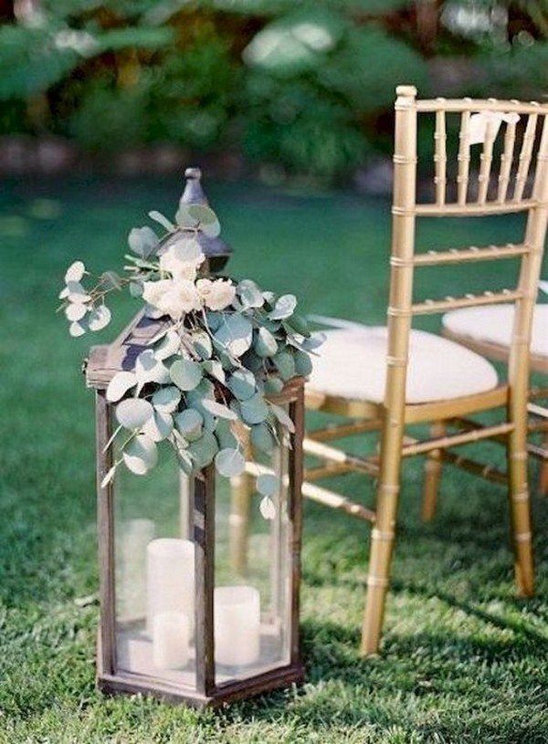 outdoor wedding aisle decoration ideas with lanterns