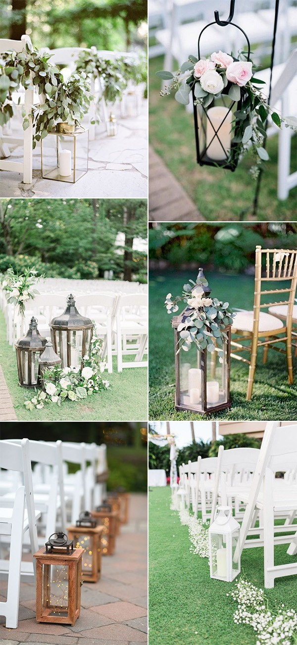 outdoor wedding aisle decorations with lanterns